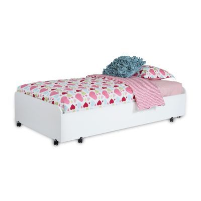 Mobby Twin Trundle Bed on Casters Pure White - 3880082