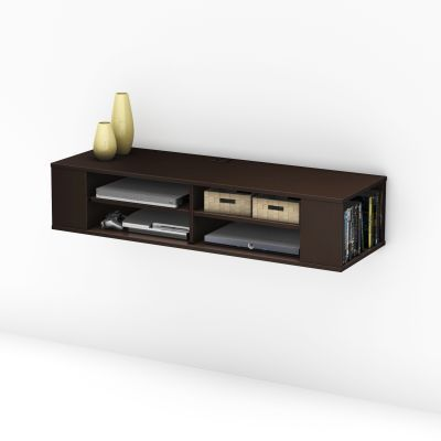City Life Wall mounted media console Chocolate - 4419675