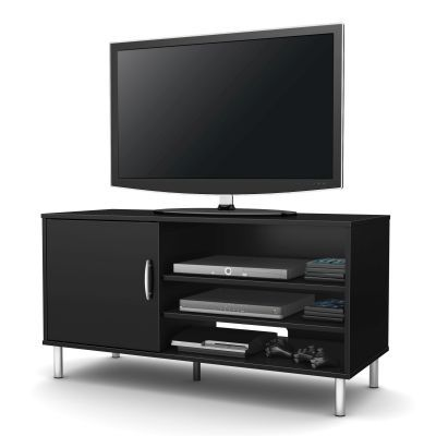 Renta TV Stand with door Pure Black - 4507676