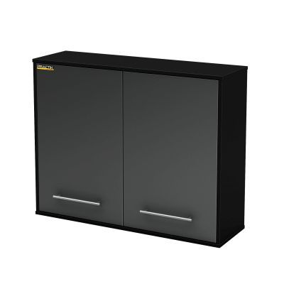 Karbon Wall Storage Cabinet Pure Black and Charcoal - 5227972