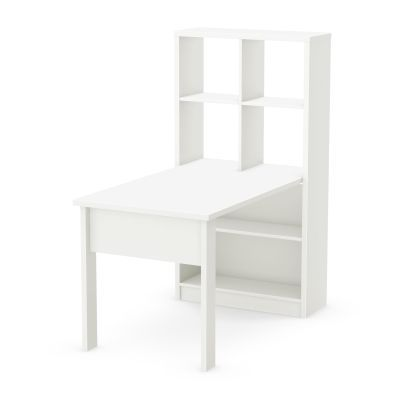 Annexe Work Table and Storage Unit Combo Pure White - 7250798