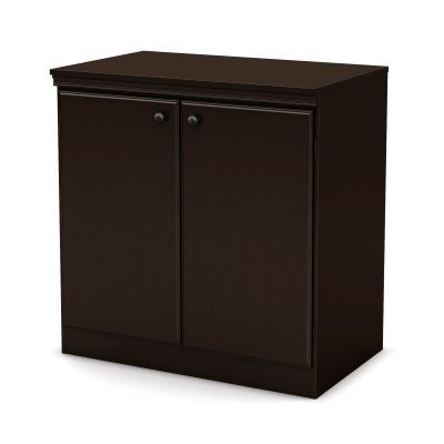 Morgan Small 2-Door Storage Cabinet Chocolate - 7259722