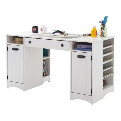 Artwork Craft Table with Storage Pure White - 7260727