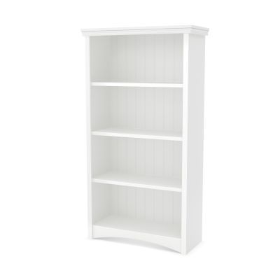 Gascony 4-Shelf Bookcase Pure White - 7360767