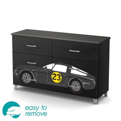 Luka Black Onyx and Charcoal 6-Drawer Double Dresser - 8050025K
