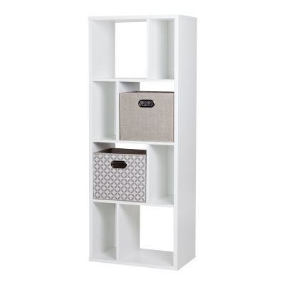 Reveal White 8-Cube Shelving Unit with 2 Fabric Storage - 8050154K