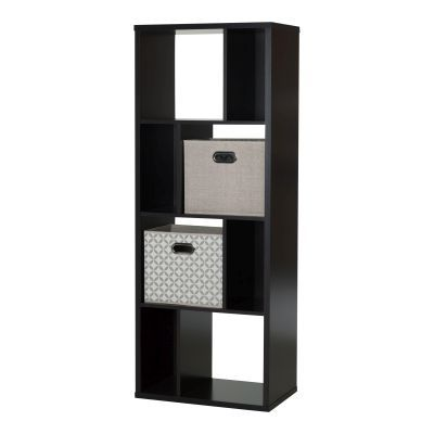 Reveal Chocolate 8-Cube Shelving Unit with 2 Storage - 8050156K