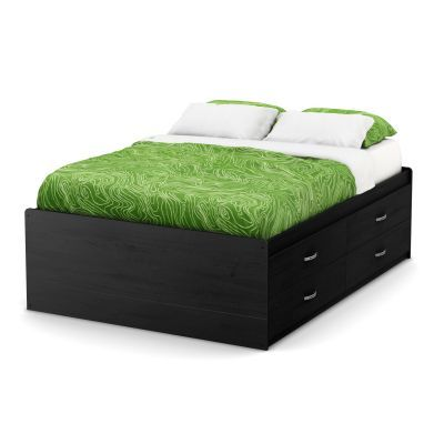 Lazer Full Captain Bed (54'') with 4 Drawers Black Onyx - 9005209