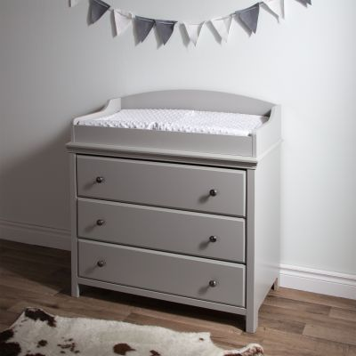Cotton Candy Changing Table with Drawers Soft Gray - 9020330