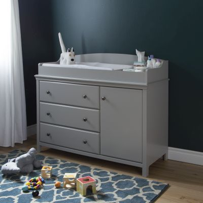 Cotton Candy Changing Table with Removable Station in Gray - 9020333