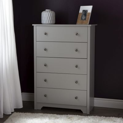 Vito 5-Drawer Chest Soft Gray - 9021035