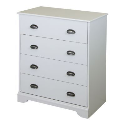 Fundy Tide 4-Drawer Chest Pure White - 9023034
