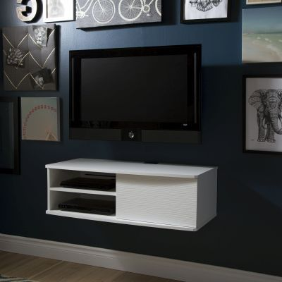 Agora 38'' Wide Wall Mounted Media Console Pure White - 9029674