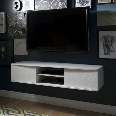 Agora 56'' Wide Wall Mounted Media Console Pure White - 9029676