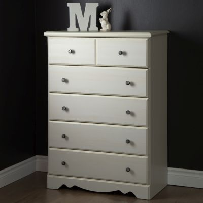 Country Poetry 5-Drawer Chest White Wash - 9031035