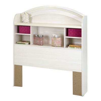 Country Poetry Twin Bookcase Headboard (39'') White Wash - 9031098
