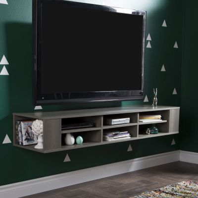 City Life 66'' Wide Wall Mounted Media Console Gray Maple - 9042677