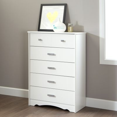 Tiara 5-Drawer Ginny's Chest Pure White - 9059035