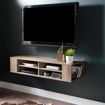 City Life 48'' Wall Mounted Media Console Weathered Oak - 9062675