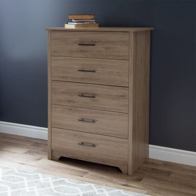 Fusion 5-Drawer Chest Rustic Oak - 9063035