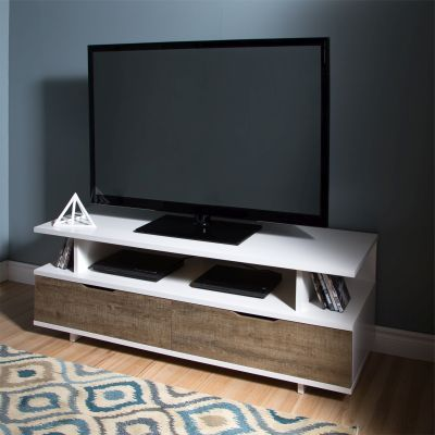 Reflekt TV Stand with Drawers in Weathered Oak and White - 9065677