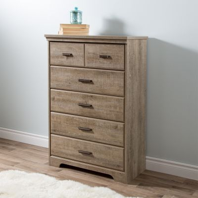 Versa 5-Drawer Chest Weathered Oak - 9066035