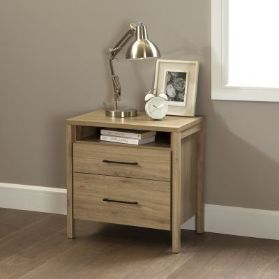 Gravity 2-Drawer Nightstand Rustic Oak - 9068060