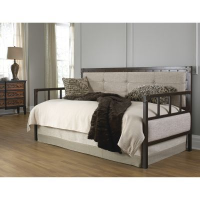Gotham Metal Daybed withTrundle Bed Brushed Copper Twin - B50069