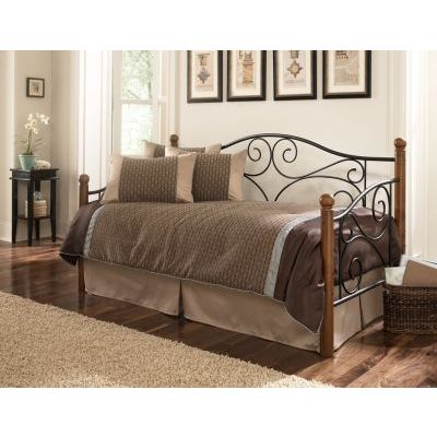 Doral Metal Daybed with Euro Top Deck and Trundle Bed  Twin - B50330