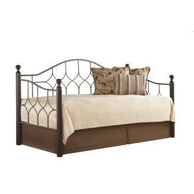 Bianca Complete Metal Daybed with Trundle Bed Twin - B91639