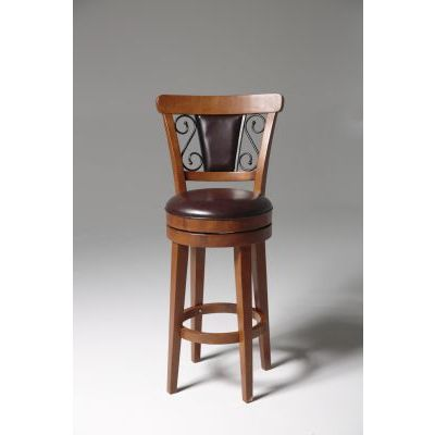 Trenton 26' Wood Counter Stool with Upholstered Swivel Seat - C1X076