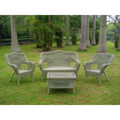 Four Piece Maui Outdoor Seating Group in Antique Moss - 3180-AM