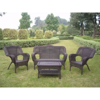 Four Piece Maui Outdoor Seating Group in Antique Pecan - 3180-AP