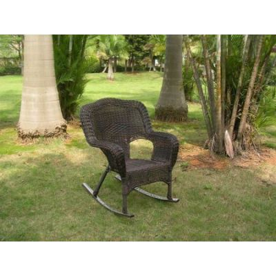 Camelback Resin Wicker Rocker in Antique Pecan - 3182-1CH-AP