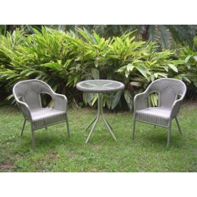 Set of Three Resin Wicker Bistro Group in Antique Moss - 3186-AM