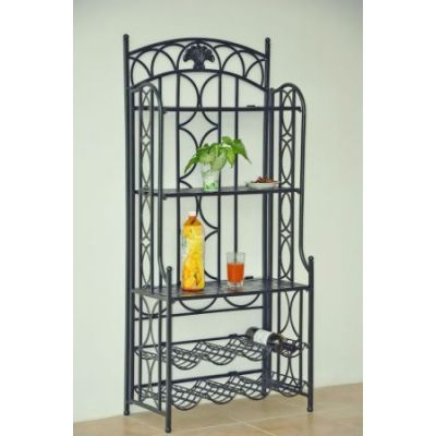 Iron 5-Tier Bakers/Wine Rack in Pewter - 3440-HD-PW