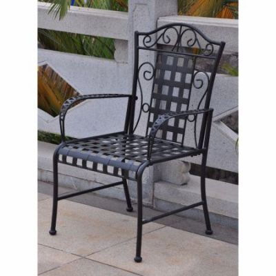 Mandalay Set of Two Iron Chairs in Antique Black - 3450-2CH-ANT-BK