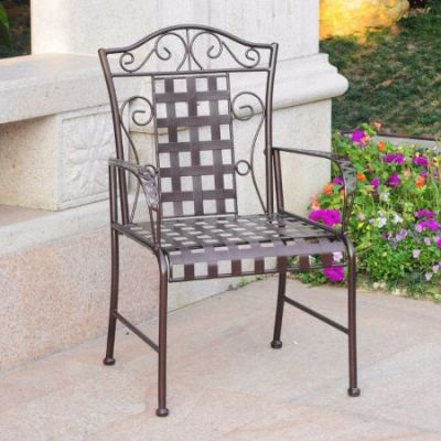 Mandalay Set of Two Iron Chairs in Bronze - 3450-2CH-HD-BZ