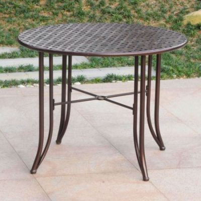 Mandalay Iron Outdoor 39'' Dining Table in Bronze - 3454-TBL-HD-BZ