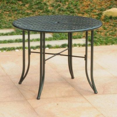 Mandalay Iron Outdoor 39'' Dining Table in Verdi Green - 3454-TBL-HD-VG