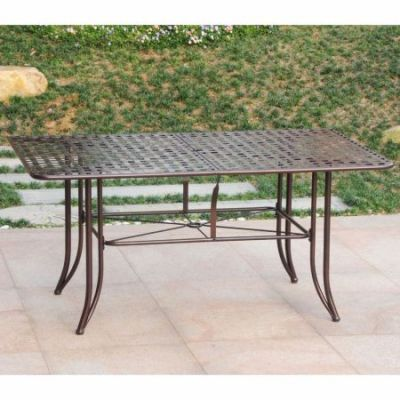 Mandalay Iron Outdoor 60'' Dining Table in Bronze - 3455-TBL-HD-BZ