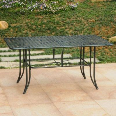 Mandalay Iron Outdoor 60'' Dining Table in Verdi Green - 3455-TBL-HD-VG