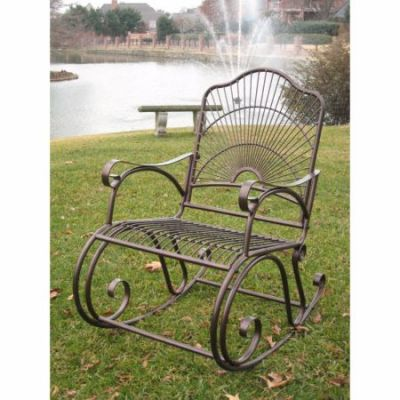 Sun Ray Iron Rocker in Bronze - 3482-HD-BZ