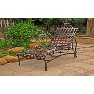 Santa Fe Nailhead Single Chaise Lounge in Bronze - 3571-SGL-BZ
