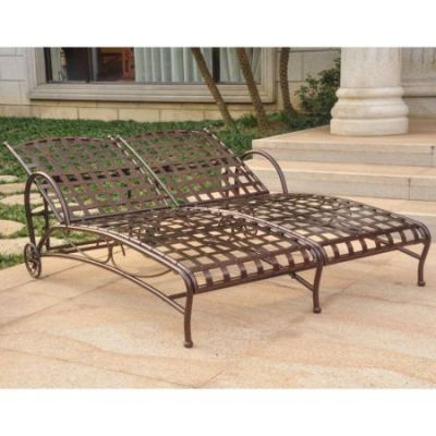 Santa Fe Nailhead Double Chaise Lounge in Bronze - 3572-HD-BZ