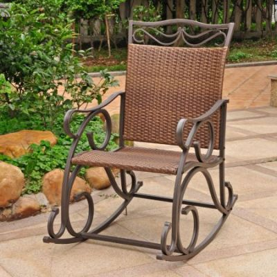 Valencia Resin Wicker Rocker in Antique Brown - 4104-RKR-ABN