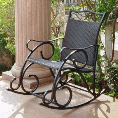 Valencia Resin Wicker Rocker in Black Antique - 4104-RKR-BKA