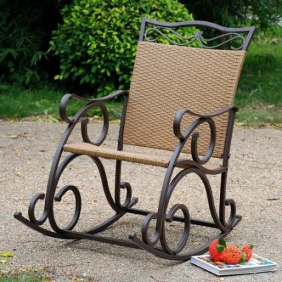 Valencia Resin Wicker Rocker in Honey - 4104-RKR-HY
