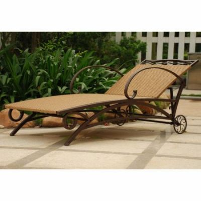 Valencia Resin Wicker Single Chaise Lounge in Honey - 4111-SGL-HY