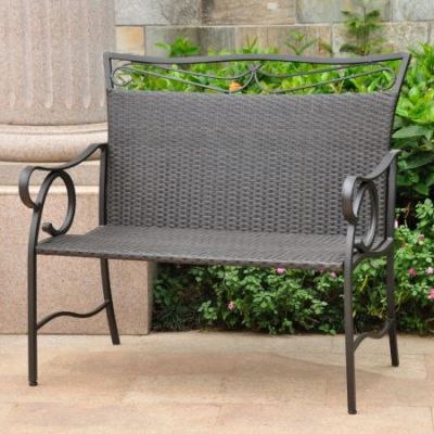 Valencia Resin Wicker Settee in Black Antique - 4118-LS-BKA